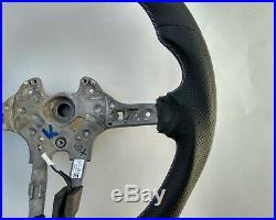 BMW X3 F25 F26 X5 F15 F16 M-TECH M NAPPA HEATED STEERING WHEEL FLAT BOTTOM blue