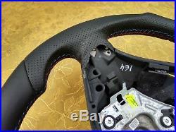 BMW X5 E70 X6 E71 NEW NAPPA ERGONOMIC INLAYS heated SW SPORT FLAT BOTTOM blue