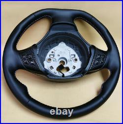BMW custom steering wheel E91 E92 E93 E82 E90 E87 NEW LEATHER flat bottom