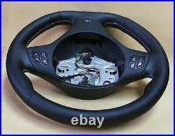 BMW custom steering wheel M E91 E92 E93 E82 E90 E87 NEW LEATHER flat bottom