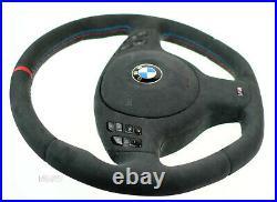 BMW custom steering wheel M Sports flat bottom Alcantara E46 E38 E39 E53 M3 M5
