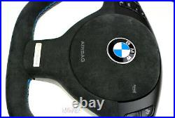 BMW custom steering wheel e39 e38 e46 e53 flat top & bottom Individual Alcantara