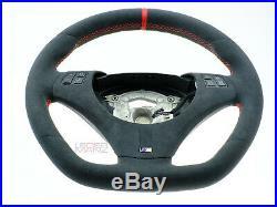BMW custom steering wheel flat bottom thick ALCANTARA M E90 E92 E93 E87 E88 E82