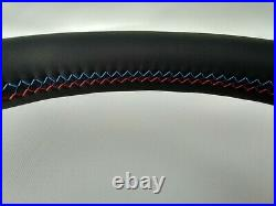 Bmw 05-07 E60 E61 New Nappa Leather Ergonomic Inlays Steering Wheel Flat Bottom