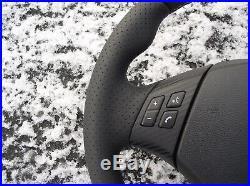 Bmw 3 E90 E91 X1 E84 Nappa/p Leather Ergonomic Steering Wheel Flat Bottom Carbon