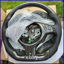 Bmw Carbon Fibre E46 M3 Flat Bottom Steering Wheel. Oem