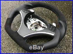 Bmw E87 E90 E91 E92 E93 Dct Paddle New Flat Bottom Custom Made Steering Wheel