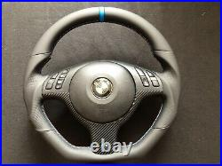 Bmw M3 E46 M5 E39 X5 E53 New Custom Made Flat Bottom Steering Wheel