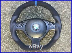 Bmw M3 M5 X5 E39 E46 M Sport New Custom Made Flat Bottom Steering Wheel