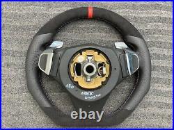 Bmw M5 M6 E60 E61 E63 E64 LCI Paddle Custom Made Flat Bottom Steering Wheel