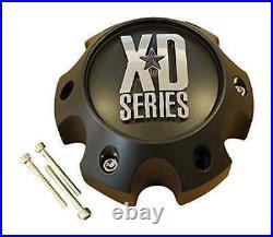 Brand New XD Series Spy Addict Revolver Flat Black 6 Lug GMC Wheel Center Cap