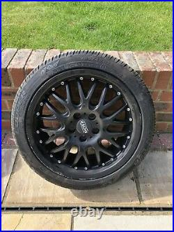 (COLLECTION ONLY) 16 DOTZ MUGELLO BLACK ALLOY WHEELS WithTYRES
