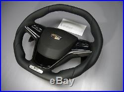 Cadillac custom flat bottom thick PADDLE steering wheel ATS ELR XTS ESV CTS V