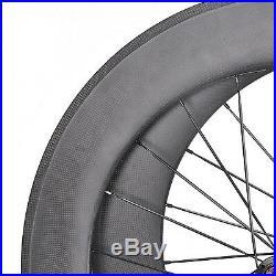 Carbon 700C 88mm Rear Wheel Tubular Road Bicycle 700C 3k Matt Rim Powerway 11s