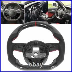 Carbon Fiber Sport Flat Steering Wheel for Audi S3 S4 S5 RS3 RS4 RS6 RS7 A6 A7 S