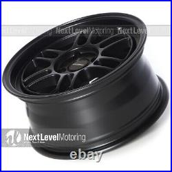 Circuit CP37 15x7 4-100 +28 Flat Black Wheels RPF1 Style Fits Acura Integra DC2