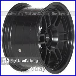 Circuit CP37 18x9.5 18x10.5 5-114.3 +25 Flat Black Wheels Staggered RPF1 Style