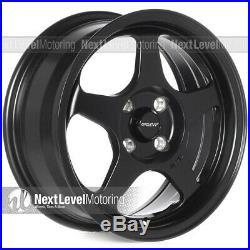 Circuit Performance CP22 15x6.5 4-100 +35 Flat Black Wheels Rims Spoon Style