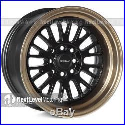 Circuit Performance CP28 15x8 4-100 4-114.3 +0 Flat Black Bronze Lip Wheels Rims