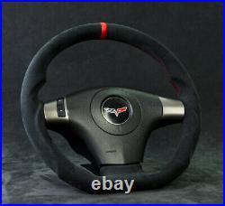 Corvette C6 Custom Steering Wheel Customized 2006-2013 Flat Bottom D Shaped ZR1