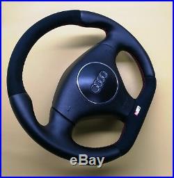 Custom Flat Bottom Steering Wheel A3 S3 8l / 8p Tt 8n R8 Style