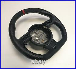 Custom Flat Bottom Steering Wheel Audi A1 S1 A6 C7 A7! Full Leather! R8 Style