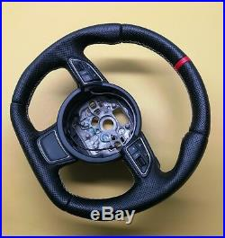 Custom Flat Bottom Steering Wheel Audi A1 S1 A6 C7! Full Leather! R8 Style