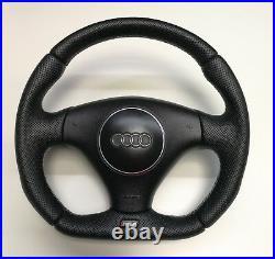 Custom Flat Bottom Steering Wheel Audi Rs4 B5 S4 B6! Full Perforated Leather
