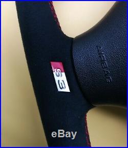 Custom Flat Bottom Steering Wheel For Audi S3 8l 8p Tt 8n Alcantara Leather