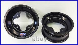 DWT A5 BLACK 10 FRONT REAR WHEELS RIMS 10X5 4+1 4x110 4/110 Polaris RZR170