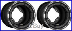 DWT G3 Matte Black Rear Beadlock Rims Wheels 9 4/115 YFZ450 Raptor Banshee