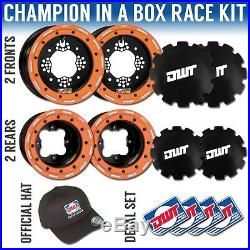 DWT Orange Champion in a Box 10 Front 9 Rear Rims Beadlock Wheels KTM 525 450
