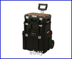 DeWalt TSTAK Tower On Wheels Cart chest storage tool box work station rolling UK