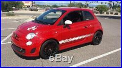 Drag Wheels Dr-61 17x7 4/98 et30 58.25mm Flat Black Rims For Fiat 500 Abarth