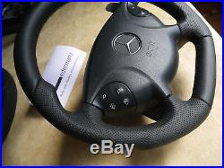E55AMG 03-05 W211 Mercedes paddle steering wheel flat bottom BLACK SERIES STYLE