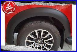 FENDER FLARES MATTE FIT Holden Colorado 2016 2017 2018 WHEEL ARCH BLACK