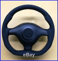 FLAT BOTTOM Steering Wheel VW GOLF MK4 BORA JETTA PASSAT ALCANTARA // R8 STYLE