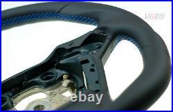 FORD FIESTA MK7 08-15 Nappa custom thick steering wheel flat bottom TOP QUALITY