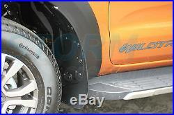 Fender Flares Wheel Arch Kit in Matt Black for Ford Ranger T6 2016-2018 D/Cab