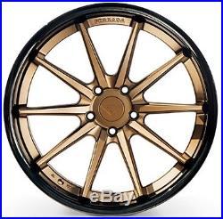Ferrada FR4 22x11 5x120 +20 Matte Bronze / Gloss Black Lip Wheels (Set of 4)