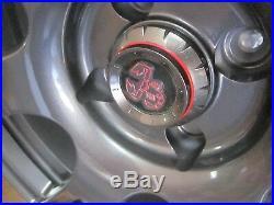 Fiat 500 Abarth, Pop, Sport Competizione Sport Wheels, 17x7.5, 4x98, Matte Black