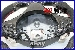 Fits BMW E90 335i Custom Carbon Fiber & Leather Flat Bottom Steering Wheel 07-11