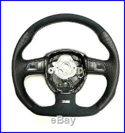 Flat Bottom Audi Steering Wheel A3 S3 A4 S4 A5 S5 Rs5 A6 S6 A8 Q5 Q7 Rs Badge