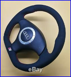 Flat Bottom Steering Wheel A4 S4 (b5) A6 (c5) Tt! Thicker Version! Alcantara