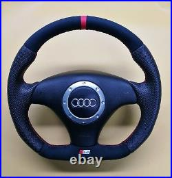 Flat Bottom Steering Wheel A4 S4 (b5) S4 Badge! Extra Padding Alcantara