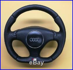 Flat Bottom Steering Wheel A4(b6) A6 (c5) Tt 8n! S-line! Tiptronic! Leather