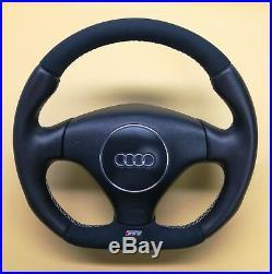 Flat Bottom Steering Wheel A6 C5 Allroad S6 Rs6! Thicker Version! Alcantara