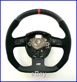 Flat Bottom Steering Wheel Audi A5 S5 Rs5 Alcantara And Perforated Leather