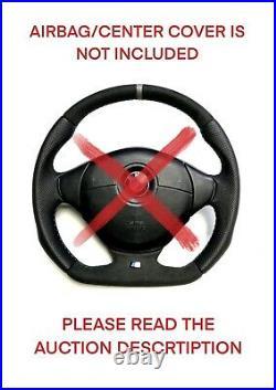 Flat Bottom Steering Wheel Bmw E36 E38 E39 M Power! Perforated And Alcantara