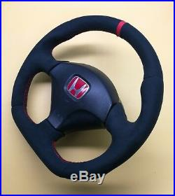 Flat Bottom Steering Wheel Honda Acura CIVIC Sport Type R VII Gen. Full Alcantara
